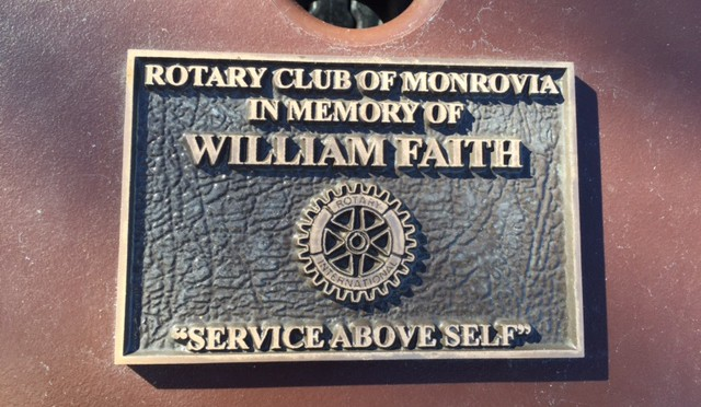 Picnic Table at Rotary Park Honors Bill Faith